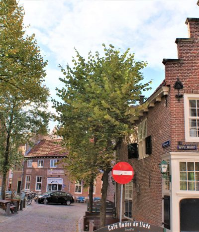 The former mandate house in Amersfoort is on the corner of the Appelmarkt and the green market.
