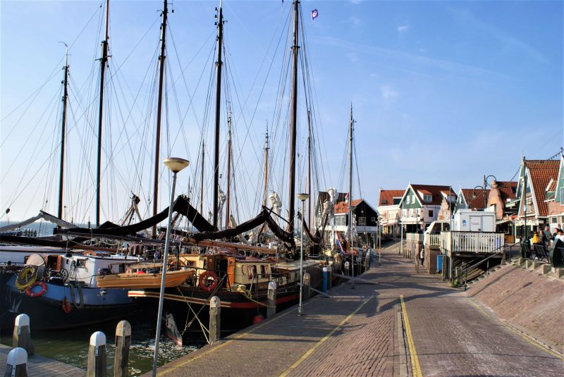 The harbor is full of historic sailing ships and on the dike you will find all souvernier shops