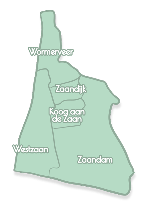A signed map of the Zaanstad region