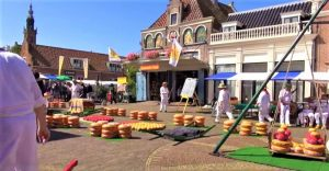 In summer, the cheese market of Edam is held weekly.