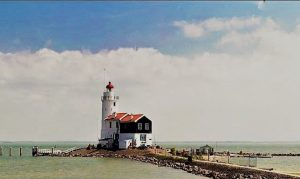 The lighthouse of Marken, also called the horse of marken is a beacon for shipping